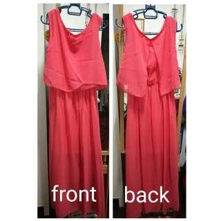 Watermelon Color Dress