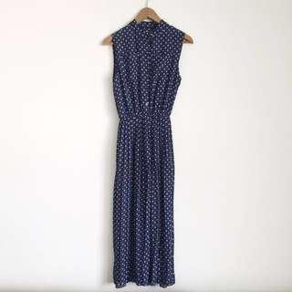 古著 無袖百摺洋裝 #雙十一女裝出清