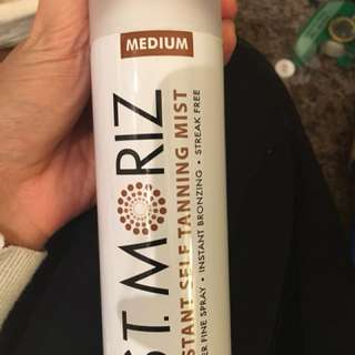 Fake tanning spray