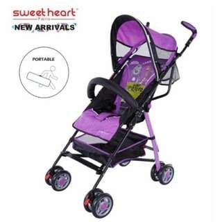 REDUCE PRICE!! Sweet Heart Paris Fold Stroller RM89