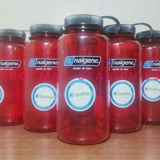 Nalgene 1L tritan wide mouth red