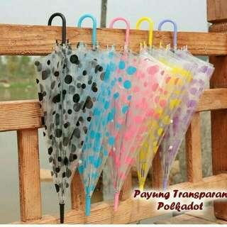 Payung Transparan Korean Style
