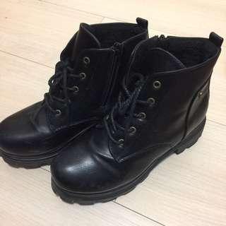 內刷毛厚定增高靴