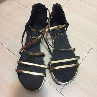 羅馬平底涼鞋