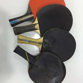 table tennis rackets 4 pieces