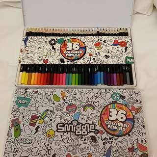 Coloured Pencils 36 Smiggle - Pensil Warna Smiggle
