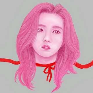 Kpop Portrait Digital Painting