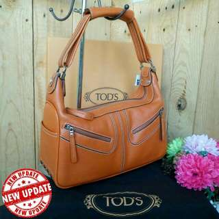 AUTHENTIC TODS GENUINE LEATHER SHOULDER BAG
