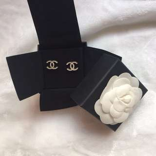 🈹️Chanel 閃石耳環earring
