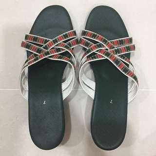 Sia Stewardess Green Sandal