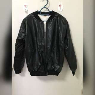 Kids Boy / Girl Winter Jacket Leather