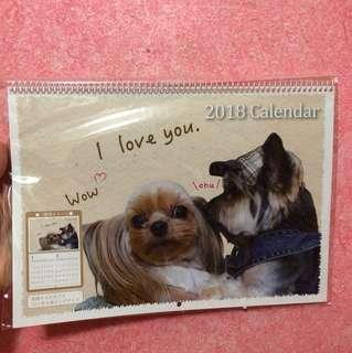 Cutesy Dogs 2018 A4 Wall Calendar scheduler