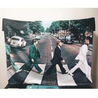 <現貨-披頭四 The Beatles>130*150cm Abbey Road 藝術 掛布 門簾 桌布野餐墊沙灘巾蓋布掛毯 房間布置