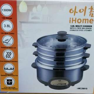 BRAND NEW 3.8L MULTI COOKER WITH 2 TIER