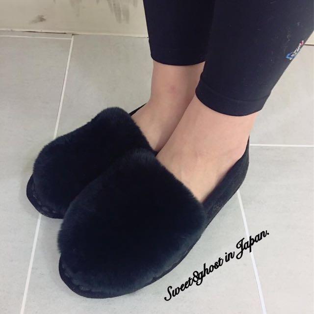 黑色毛毛鞋23號
