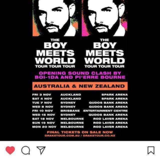 2X Drake BOY MEETS WORLD TOUR