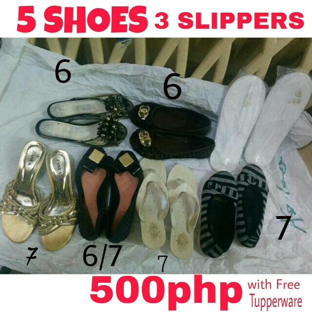 5shoes 3slippers (imported)