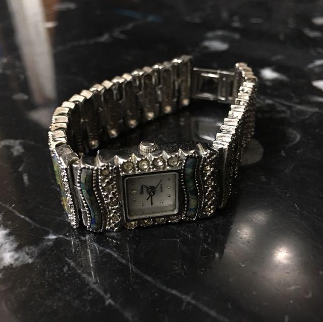 德國買的復古鑲玉手錶