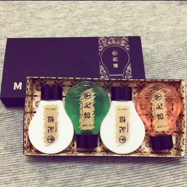 記憶沐浴四小瓶禮盒
