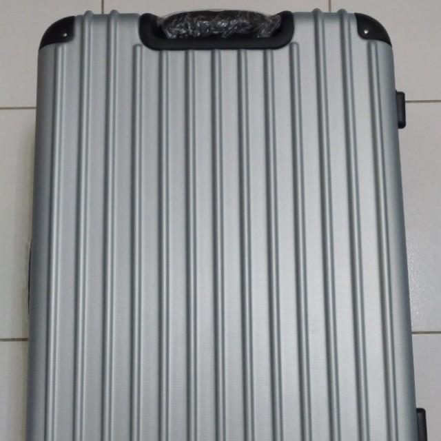行李箱 大容量 出國 購物 銀色