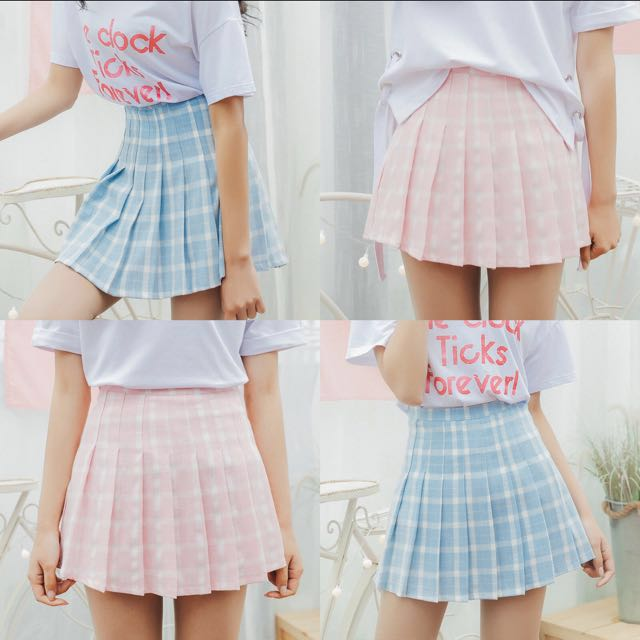 31ae115d46 🔥 [FAST PO] Korean Ulzzang Macaroons Color Contrast Tennis Plaid Pleated  Skirt, Women's Fashion, Clothes, Dresses & Skirts on Carousell