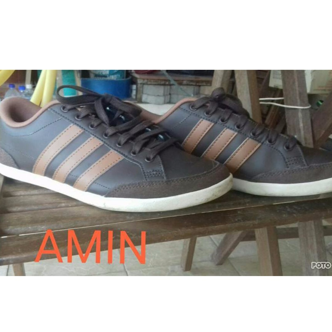 best website b3eac b7de2 ADIDAS NEO ORIGINAL CAFLAIRE BROWN PU LEATHER, Mens Fashion