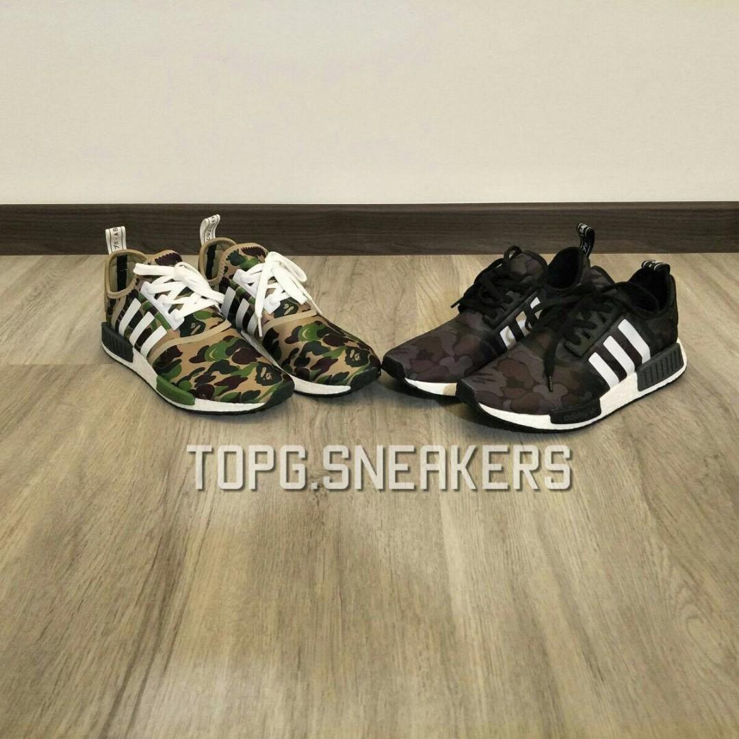 2110f2c6d Adidas NMD R1 X BAPE Olive   Black Camo