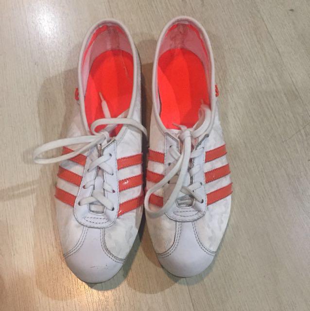 Adidas White and Orange sneakers