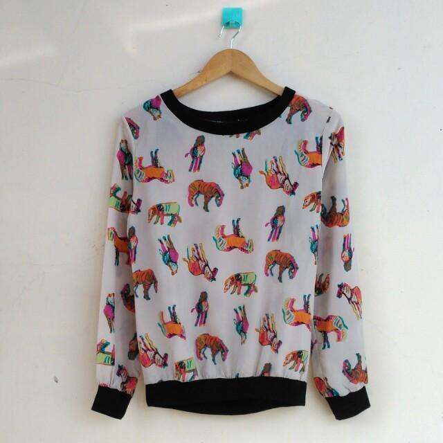 Animal Longslevee Tshirt