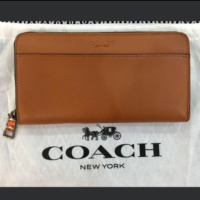 Authentic Coach Leather Long Wallet
