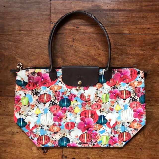 AUTHENTIC Longchamp x Mary Katrantzou tote bag