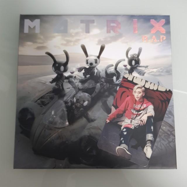 B.A.P Matrix album with Jongup photocard