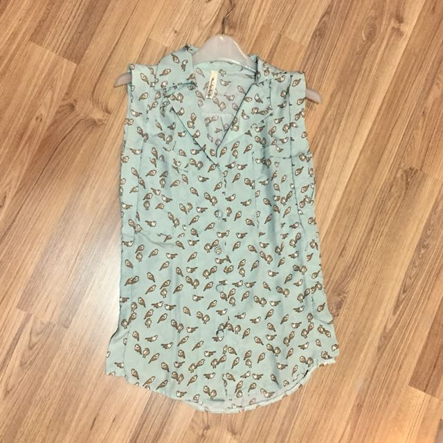 Bird mint shirt