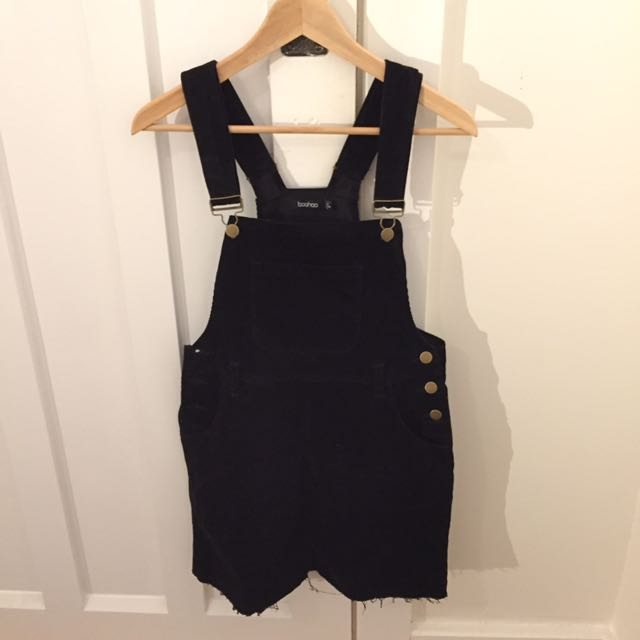 Black corduroy pinafore