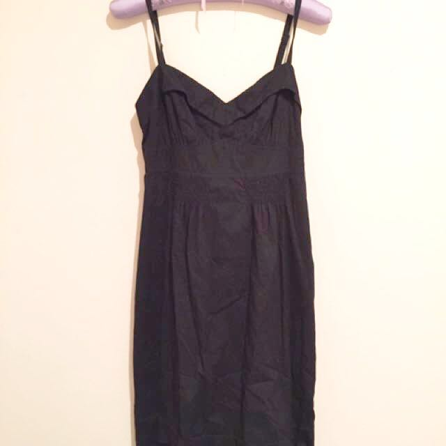 Black Jag Cotton Dress