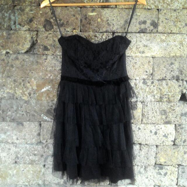 Black Lace/tulle Party Dress
