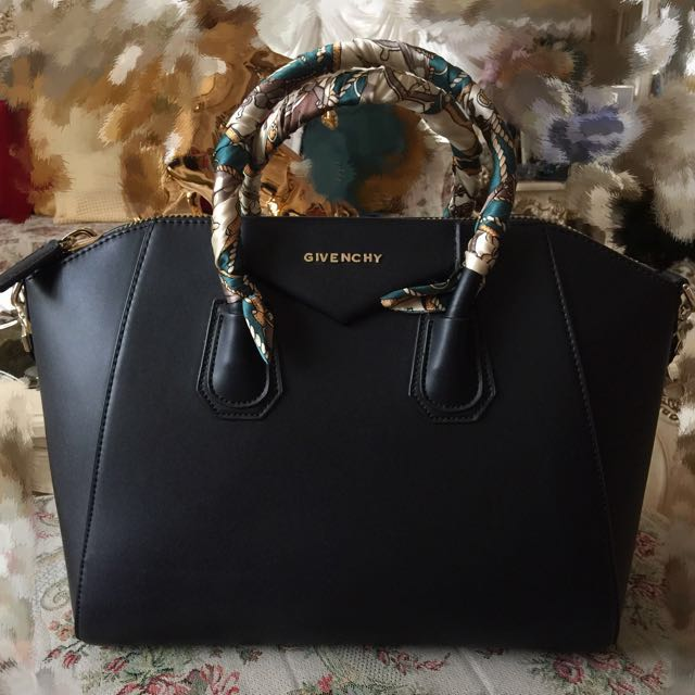 Black Leather Givenchy Inspired Two Way Tote