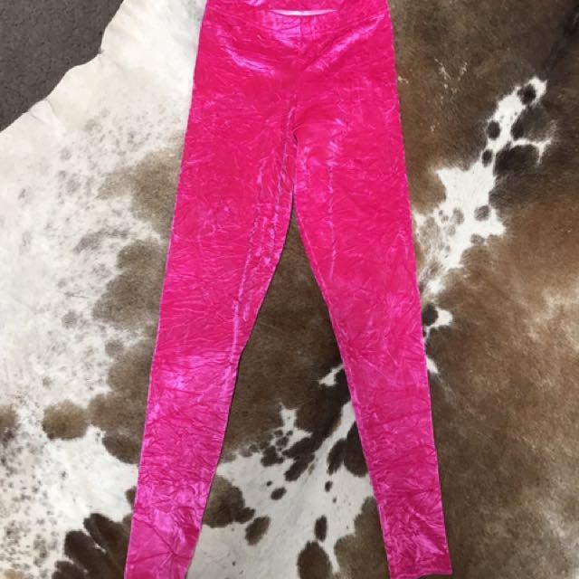 BlackMilk Velvet Pink Leggings