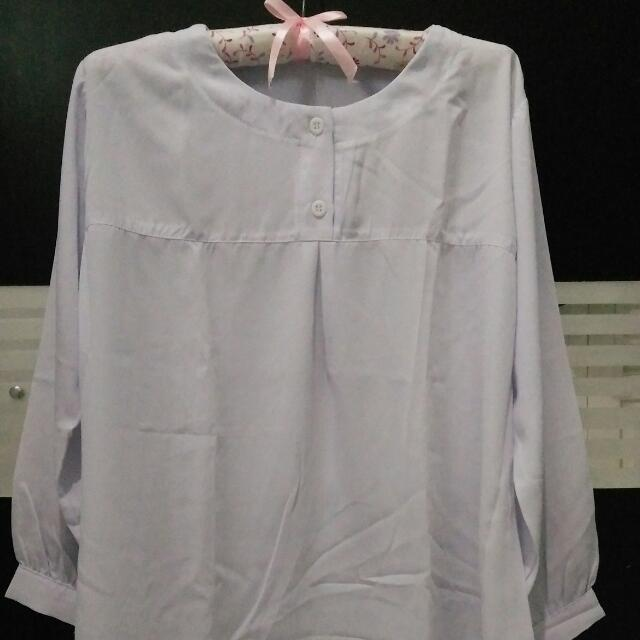 Blouse Putih White Hijab fashion Atasan Wanita