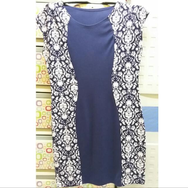 Repriced!!!! 50php Off! Blue Bodycon Dress