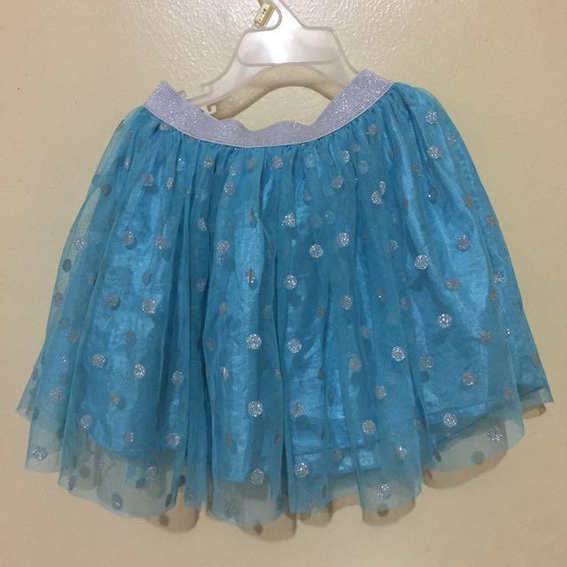 Blue Polka Skirt