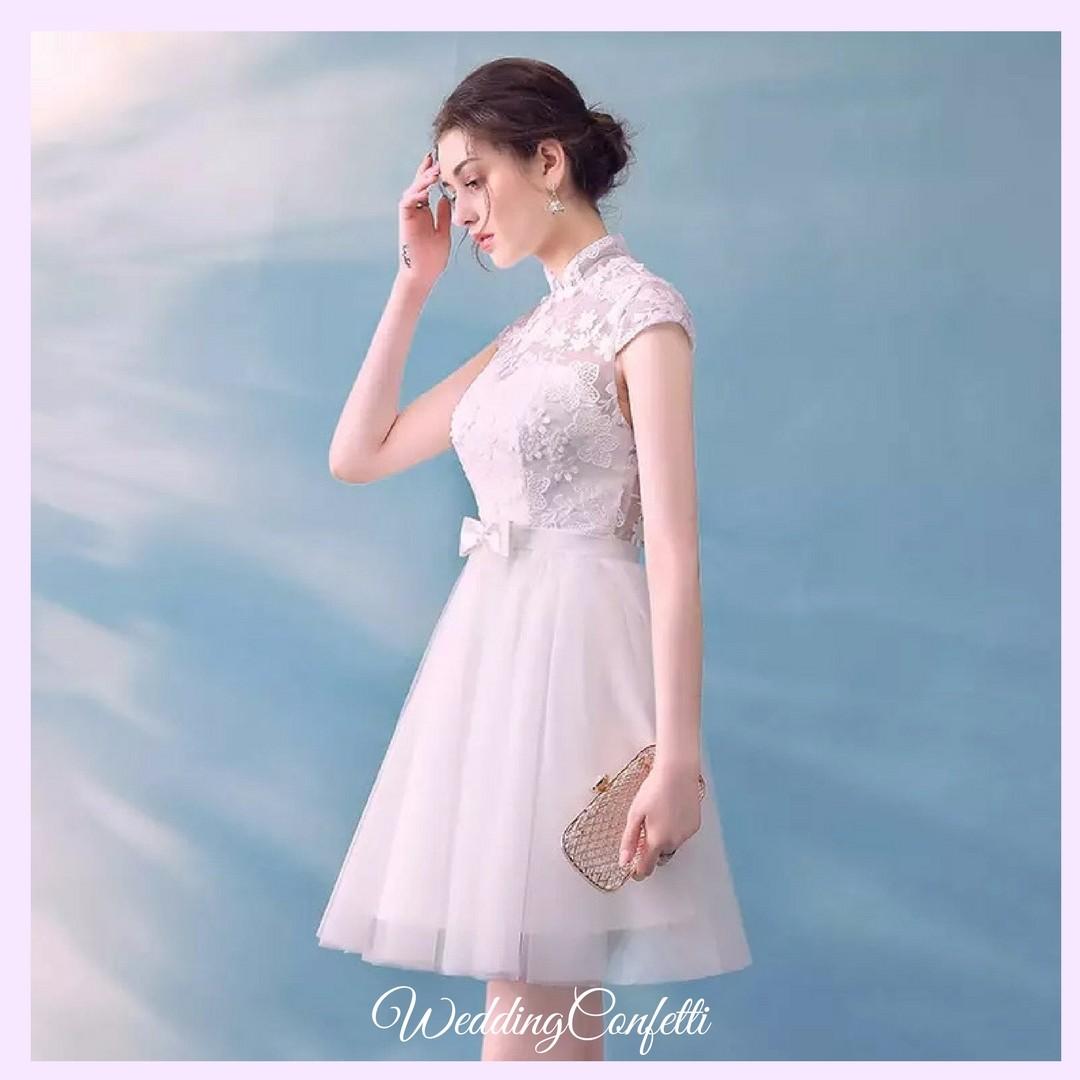 Brand New* Laurentia Wedding Bridal White Mandarin Collar CheongSam ...