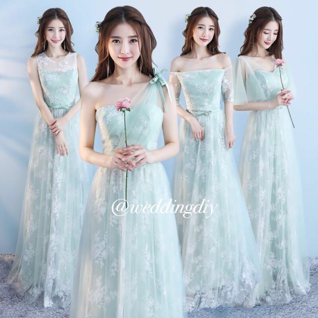 🌟Bridesmaid Floral New Series Mint Green Sisters Dress #budgetbride ...