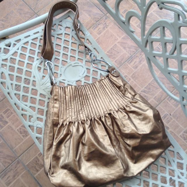 Bronze Shoulder Handbag