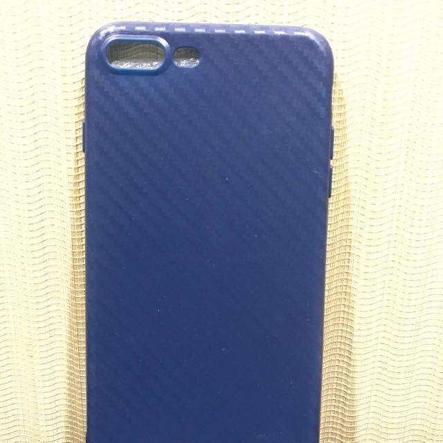 Casing carbon blue iphone 7+
