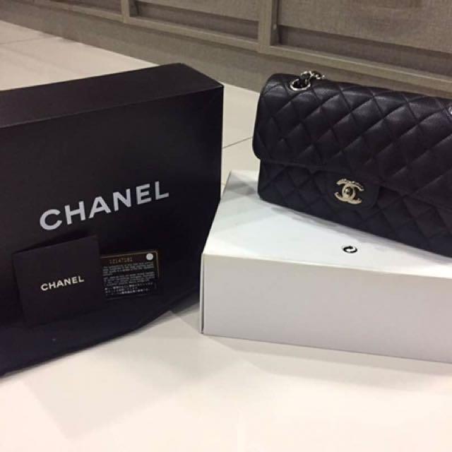 Chanel classic lamb skin