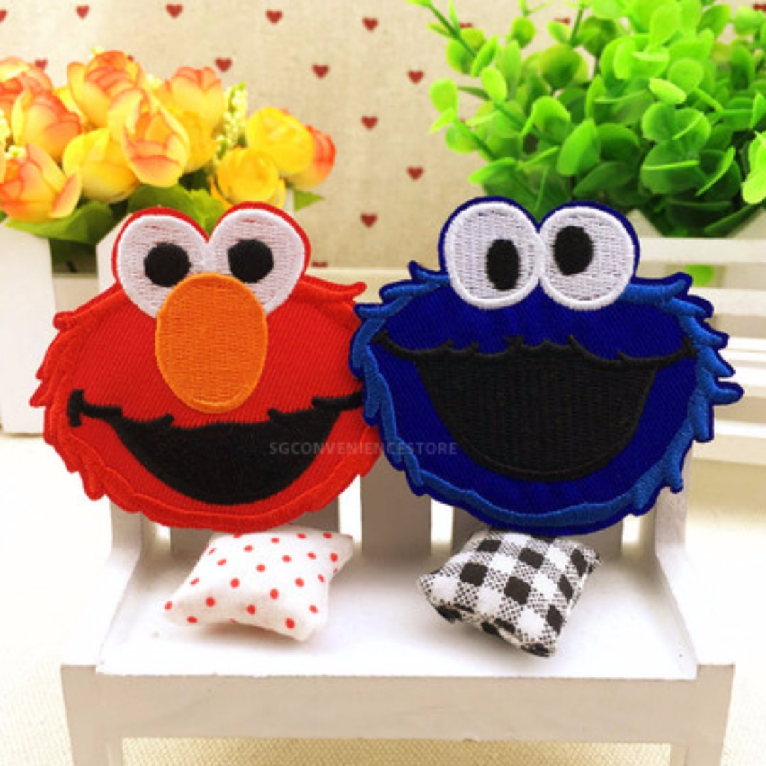 Set Of Classic Sesame Street Characters DIY Embroidered Iron On