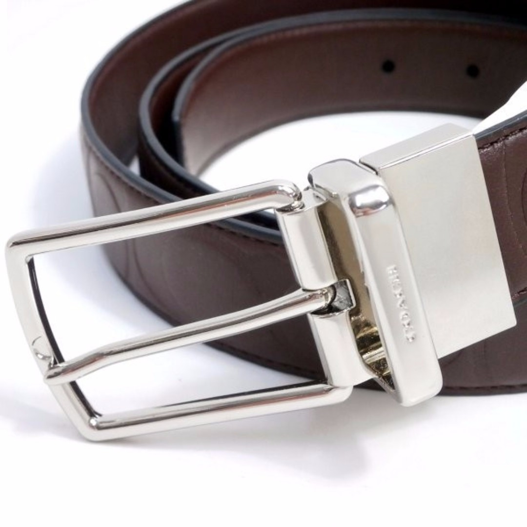 2c06a53ebfdd COACH 64827 MODERN HARNESS CUT-TO-SIZE REVERSIBLE SIGNATURE LEATHER ...