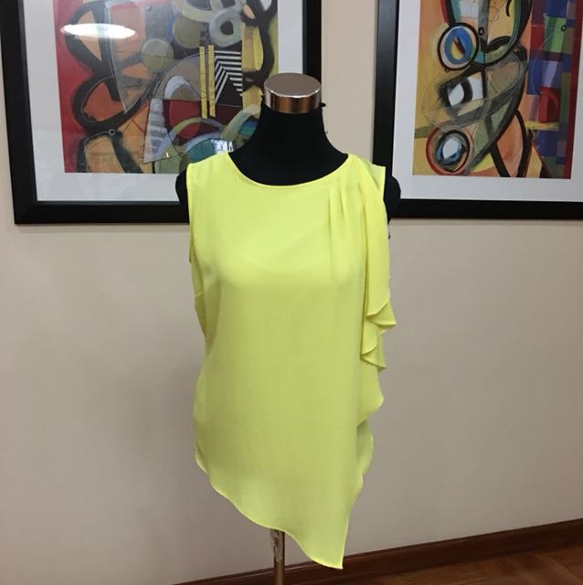 Debenhams Principle yellow chiffon blouse