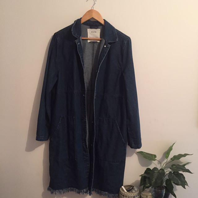 Denim Retro Trench Coat